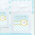 Blue Elephant Baby Shower Favor Boxes (Set of 12)