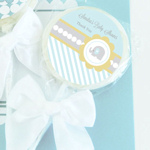 Blue Elephant Personalized Lollipop Favors