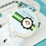 Blue Monkey Party Personalized Lollipop Favors