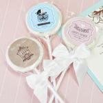 Vintage Baby Personalized Lollipop Favors