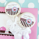 Cupcake Party Personalized Lollipop Favors