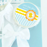 Rubber Ducky Personalized Baby Shower Lollipop Favors