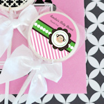 Pink Monkey Party Personalized Lollipop Favors