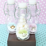 Baby Animal Personalized Mini Glass Bottle Favors