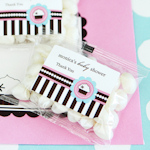 Cupcake Party Personalized Jelly Bean Packs