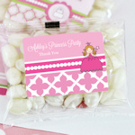 Princess Party Personalized Jelly Bean Packs