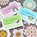 Personalized Baby Animal Mini Mint Favors
