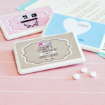 Vintage Baby Personalized Mini Mint Favors
