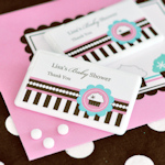 Cupcake Party Personalized Mini Mint Favors