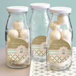 Birdcage Party Personalized Milk Bottles