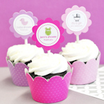 Baby Shower Cupcake Wrappers & Cupcake Toppers (Set of 24)