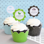 MOD Baby Silhouette Cupcake Wrappers & Toppers (Set of 24)