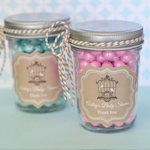 Birdcage Party Personalized Mini Mason Jars
