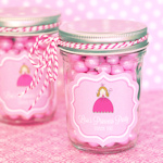 Princess Party Personalized Mini Mason Favor Jars