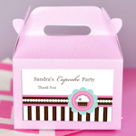 Cupcake Party Mini Gable Boxes (Set of 12)