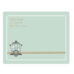 Birdcage Party Return Address Labels