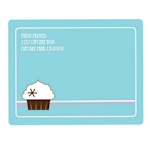 Cupcake Party Return Address Labels