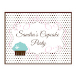 Cupcake Party Decorative Sign