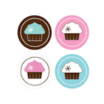 Cupcake Party Decorative Mini Stickers (Set of 32)