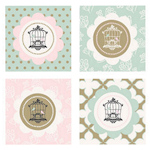 Birdcage Party Decorative Favor Tags (Set of 20)