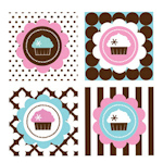 Cupcake Party Decorative Favor Tags (Set of 20)