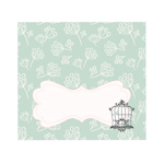 Birdcage Party Menu Cards/Place Cards (Set of 6)