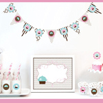 Cupcake Party Decorations Starter Kit