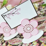 Cherry Blossom Place Card Holder Favor Boxes (Set of 12)