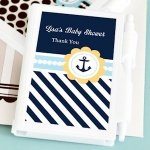 Personalized Nautical Baby Shower Favor Notebooks