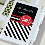 Personalized Pirate Baby Shower Notebook Favors