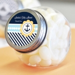 Personalized Nautical Shower Candy Favor Jars