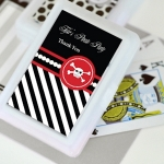 Personalized Pirate Baby Shower Playing Card Favors