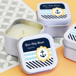 Personalized Nautical Baby Shower Favor Candles