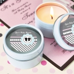 Personalized Gender Reveal Candle Tin Favors