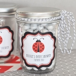 Ladybug Baby Shower Mason Favor Jars