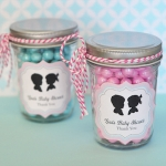 Personalized Gender Reveal Mason Favor Jars