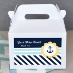 Nautical Baby Shower Gable Favor Boxes (Set of 12)