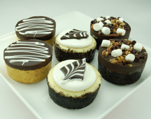Mini Chocolate Cheesecake Assortment imagerjs