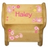 Natural Stool - Paisley Design