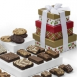 Christmas Brownie & Cookie Tower