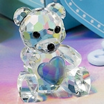 Choice Crystal Blue Teddy Bear Figurine