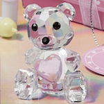 Choice Crystal Pink Teddy Bear Figurine