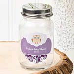 Customized Shower Favor Glass Mason Jars