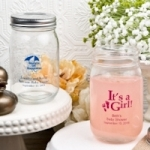 Baby Shower Personalized 16 Oz. Glass Mason Jar Favor