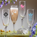 Custom Baby Shower Champagne Flutes