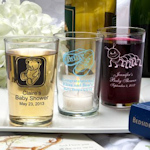 Silkscreened Baby Glassware Collection Bistro Glasses