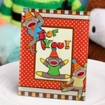Sock Monkey Picture/Place Card Frames