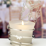 Butterfly Candle Place Card Holder