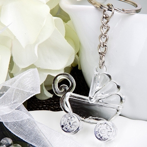Baby Carriage Design Keychain Favor imagerjs