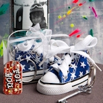 Oh-So-Cute Blue Star Sneaker Keychain